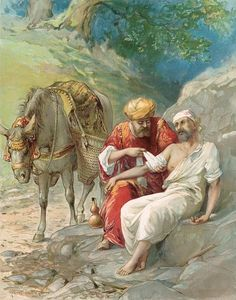 Bible Stories Painting - The Good Samaritan by Ambrose Dudley Christian Paintings, Christian Artwork, Christian Pictures, Bible Images, Bible Pictures, Jesus Pictures, Bible Photos, Religious Pictures, Religious Art