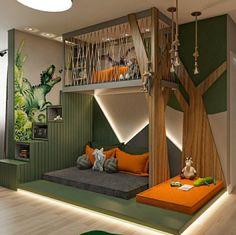 12 Amazing Dinosaur Inspired Bedrooms For Kids  Ideas & Inspo Cool Kids Bedrooms, Kids Bedroom Designs, Room Design Bedroom, Kids Room Design, Home Room Design, Bedroom Themes, Bedroom Decor, Amazing Bedrooms, Kid Bedrooms