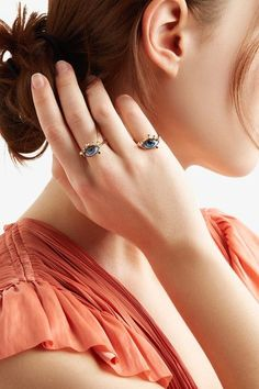 Lito - Tu Es Partout 14-karat Gold, Enamel And Diamond Ring - 52