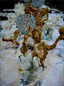 Driftwood Centerpieces Wedding   Flora Couture by Floral 2000 can combine multiple styles to create the ...