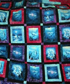 Dolphin Quilt! It was so fun to make with all the batiks!