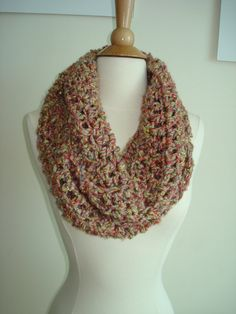 Handmade Hard Candy pink/peach Classic Cowl by Belisse on Etsy, $25.00
