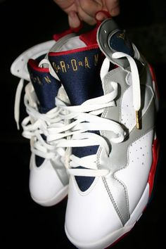 Jordan Olympic 7's - he has those ... Every pair for that matter