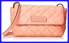 Marc by Marc Jacobs Sophisticato Crosby Quilt Leather Julie Small Good Cross Body, Spring Peach, One Size - Crossbody bags (*Amazon Partner-Link)