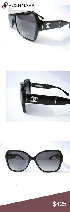 New chanel Sunglasses Authentic chanel Sunglasses  Pressed leather temples  Includes original case only CHANEL Accessories Sunglasses