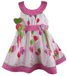 2bc2b391722 Bonnie Jean Baby Girls Heart Balloon Birthday Dress with Headband Cutest  Babies Ever