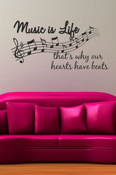 'Music is Life' Decal Set