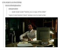 """Always nice to meet a fan."" 