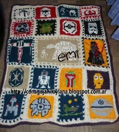 tejida al crochet, patrones en http://conagujahiloylana.blogspot.com.ar