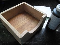 A friend of mine recently asked if I had ever made a napkin holder. Why no, I haven't, but it sounds like a fairly easy project and better yet, I could make one out of pallet wood and other scraps I … Continue Reading → Farmhouse Napkins, Wood Pallets, Pallet Wood, Wood Napkin Holder, Black Chalk Paint, Miter Saw, Wood Glue, Scroll Saw, Paint Finishes