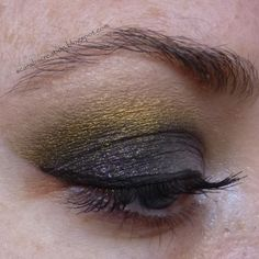 Sparkly grey and gold look by Scarabs Creation: Darling Girl Cosmetics: Life's A Beach Swatches and Look