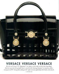 30a519bbee  VersaceEditorials - The L Signature  Versace bag