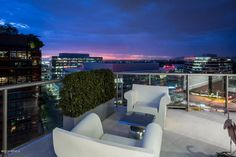 stunning panoramic city and mountain views from this Esplanade Place penthouse