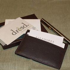 Sean: Men's Buffalo Leather Card Holder