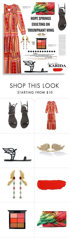 """""""Fratelli Karida: Hope Springs exulting on triumphant wing"""" by hamaly ❤ liked on Polyvore featuring Palm Beach Jewelry, Mariana Gorga, MAC Cosmetics, Sarah's Bag, outfit, shoes, ootd, dresses and FratelliKarida"""