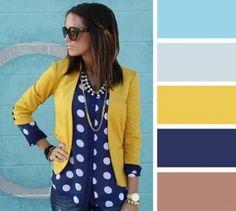 Ocra e blu? Cosa c'è di meglio? | Moda: 18 Linee Guida per Abbinare i Colori Senza Sbagliare e Creare Outfit Strepitosi! - Roba da Donne
