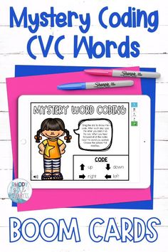 Practice CVC words and coding with this activity. After following the arrows and numbers for each step, students will type the letter they land on in the box. They will continue on from this letter to complete the next step. When each step of the code has been followed they will read the CVC word and choose the picture that matches. This activity is a great way to integrate technology in your kindergarten or first grade classroom or to share with families to support distance learning.