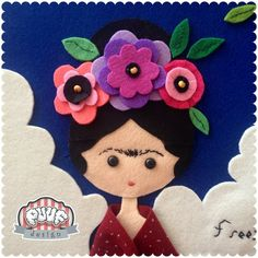 Bring the power of Frida on! I am so excited to announce that we have a new addition to our Puuf Design family, lovely Frida. One of the leading Foam Crafts, Diy And Crafts, Crafts For Kids, Sewing Crafts, Sewing Projects, Felt Projects, Moldes Halloween, Painting Glass Jars, Frida And Diego