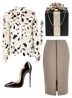 """Office chronicles"" by style-spy on Polyvore featuring SECOND FEMALE, River Island, Christian Louboutin and Kate Spade"