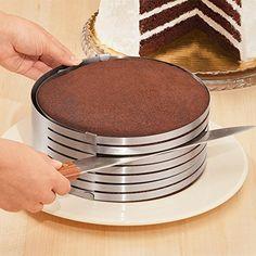 "Homeself Adjustable 6""-7.8"" Stainless Steel Cake Ring Cut..."