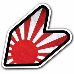 Grunge Japan Rising Sun - JDM Wakaba Leaf Flag Decal Sticker Car Macbook Laptop #CUSTOMI