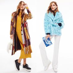 """The season's most eye-catching outerwear is here. Make a statement by going bold & graphic or cropped & textured."""