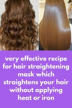 very effective recipe for hair straightening mask which straightens your hair without applying heat Coconut Milk Hair Mask, Nano Titanium, Hair Remedies For Growth, Frizzy Hair Remedies, Hair Growth, Hair Issues, Hair Repair, Hair Care Tips, Hair Tips