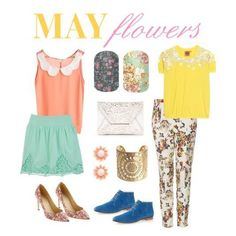 www.geturnailon.com  May Flowers Floral Spring