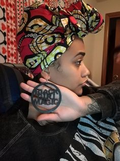 Black Girl Magic earrings - Queen Brooke.  Do you sprinkle black girl magic wherever you go? If so, you need these earrings.  See our entire collection of natural hair and afrocentric earrings at http://www.EthnicEarring.com