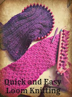 Knitting looms make knitting simple and fast! Even kids can do it!.