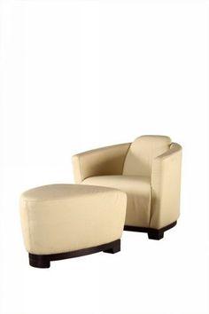 Divani Casa Hotel Off White Leather Lounge Chair