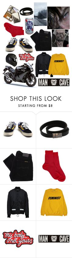 """""""Untitled #156"""" by renad306000 ❤ liked on Polyvore featuring Vans, NOVICA, Nudie Jeans Co., Maria La Rosa, Off-White, Minga, Fan Creations, men's fashion and menswear"""