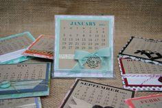 Handmade, Interchangable 2014 Desk Calendar on Etsy, $25.00