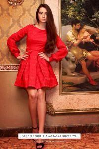 """Красное короткое платье """"Кристи"""""""