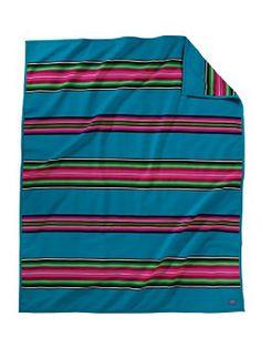 Loving this striped pendleton blanket