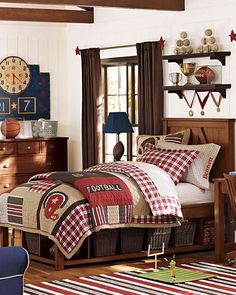 An awesome football bedroom for boys of all ages. A classic look that will easily grow up with your child.