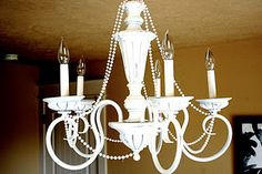 DIY chandelier upcycle -- tutorial