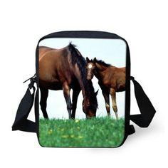 3D printing crazy horse men messenger bags children kids small crossbody bag for girls boys women designer shoulder bags bolsas