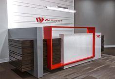 Global Office Furniture Design Marble Front Desk Supplier