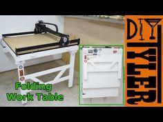 (28) Fold Down Workbench - YouTube