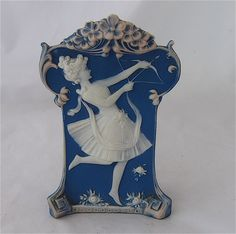 Pate sur Pate Porcelain Vase, Girl with Bow. Early 1900s.