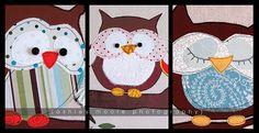 Art With Ashley: Hoooo-Ray for Owl Appliqué Owl Applique, Applique Fabric, Sewing Appliques, Embroidery Applique, Owl Templates, Applique Templates, Applique Patterns, Quilt Patterns, Applique Ideas
