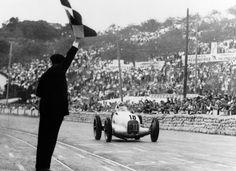 The 1934 Italian Grand Prix was won by Luigi Fagioli and Rudolf Caracciola driving a Mercedes Benz W25.