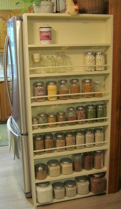 I Have This Idea For My Home To Hide Side Of Fridge I