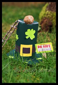 Leprechaun Trap! Click the link to directions and end result - too cute!