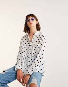 Polka dot shirt - Blouses & shirts - Clothing - Woman - PULL&BEAR Taiwan