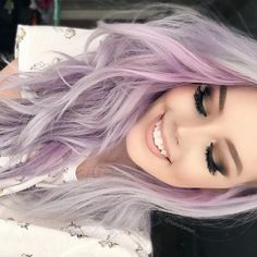 Pastel hair color. Lavender color.