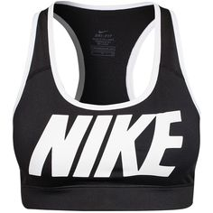 Nike Victory Compression Logo Bra ($41) ❤ liked on Polyvore featuring activewear, sports bras, tops, bras, underwear, nike, sports fashion, womens-fashion, racerback sports bra and sports bra