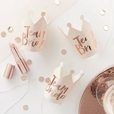 Rose Gold Team Bride Party Crowns - The Original Party Bag Company  #RePin by AT Social Media Marketing - Pinterest Marketing Specialists ATSocialMedia.co.uk