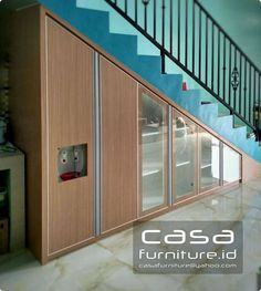 "418 Suka, 1 Komentar - KITCHEN SET,LEMARI MINIMALIS (@casafurniture.id) di Instagram: ""Lemari tangga by casafurniture.id  Komplek amarapura serpong Tangerang.  #bawahtangga…"" Amarapura, Kitchen Sets, Custom Furniture, Stairs, Outdoor Decor, Jakarta, Home Decor, Instagram, Design"
